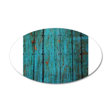 Teal nailed wood fence texture Wall Decal