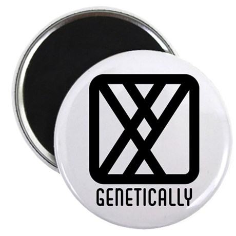 "Genetically : Male 2.25"" Magnet (100 pack)"