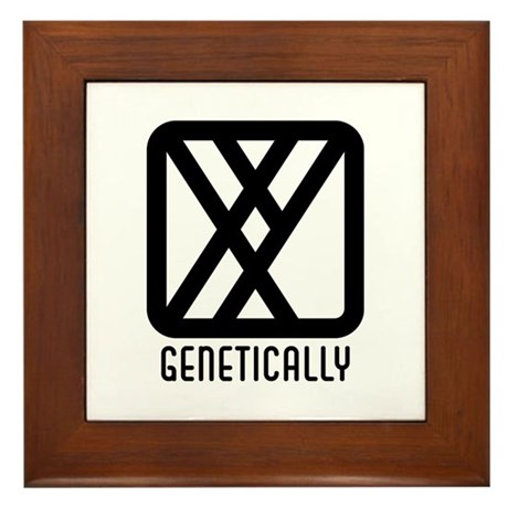 Genetically : Male Framed Tile