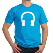 White Headphones T-Shirt