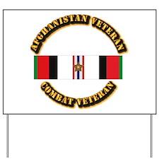 Afhganistan Veteran w Campaign Star Yard Sign