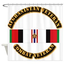 Afhganistan Veteran w Campaign Star Shower Curtain