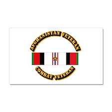 Afhganistan Veteran w Campaign Car Magnet 20 x 12