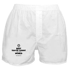 Best Travel Agent in the World Boxer Shorts