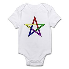 Rainbow Woven Star Infant Bodysuit