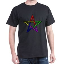 Rainbow Woven Star T-Shirt