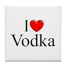 """I Love (Heart) Vodka"" Tile Coaster"