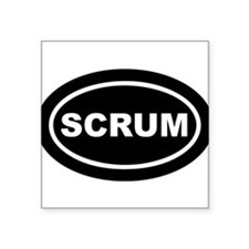 Scrum Euro Oval Sticker