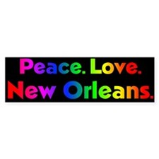 Rainbow Peace Sign Bumper Bumper Sticker