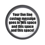 Super Mega Five Line Custom Message Wall Clock