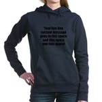 Super Mega Five Line Custom Message Hooded Sweatsh