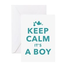 Keep Calm Its A Boy Greeting Cards