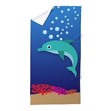 Cute Dolphin, Under the Sea 1 Beach Towel