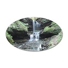 A Michigan Waterfall 35x21 Oval Wall Decal