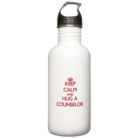 Keep Calm and Hug a Counselor Water Bottle