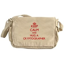 Keep Calm and Hug a Cryptographer Messenger Bag