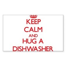 Keep Calm and Hug a Dishwasher Decal