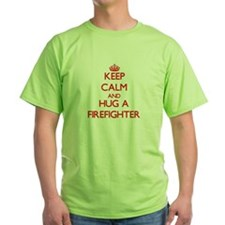 Keep Calm and Hug a Firefighter T-Shirt