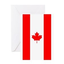 Canadian Flag Greeting Cards