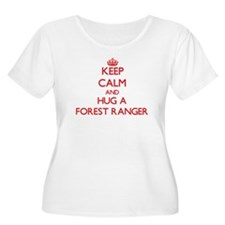 Keep Calm and Hug a Forest Ranger Plus Size T-Shir