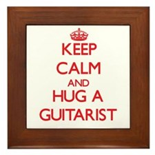 Keep Calm and Hug a Guitarist Framed Tile