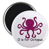 "O is for Octopus 2.25"" Magnet (100 pack)"