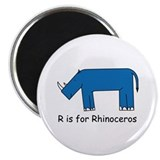 "R is for Rhino 2.25"" Magnet (100 pack)"