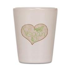 Vegan heart Shot Glass