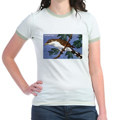 Yellow-Billed Cuckoo Bird Jr. Ringer T-Shirt