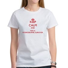 Keep Calm and Hug a Hydrographic Surveyor T-Shirt
