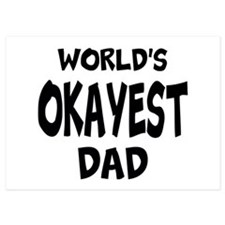 Worlds Okayest Dad Invitations