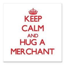 Keep Calm and Hug a Merchant Square Car Magnet 3""