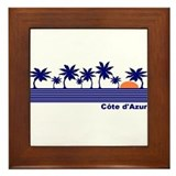 Cote d'Azur, France Framed Tile