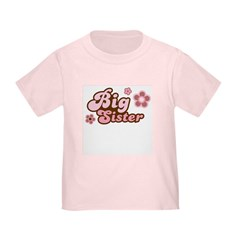 Big Sister (Funky Pink) Toddler T-Shirt