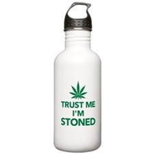 Trust me I'm stoned ma Sports Water Bottle