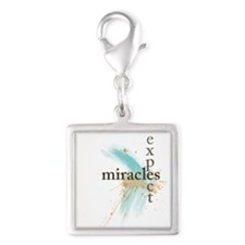 Expect Miracles Charms Silver Square Charm