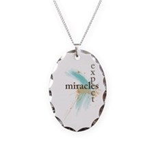 Expect Miracles Necklace Oval Charm