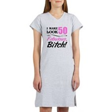 Fabulous Attitude 50th Birthday Women's Nightshirt