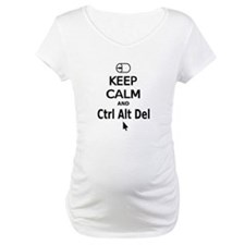 Keep Calm and Control Alt Delete (black) Shirt