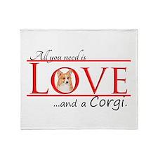 Love a Corgi Throw Blanket