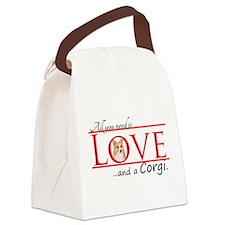 Love a Corgi Canvas Lunch Bag