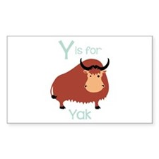 Y Is For Yak Decal