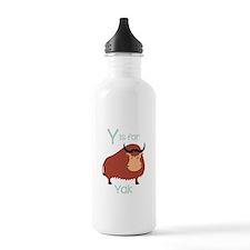 Y Is For Yak Water Bottle