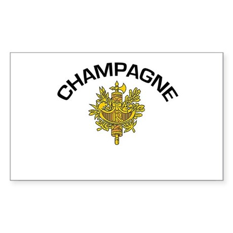 Champagne, France Rectangle Sticker