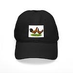 Gold Brabanter Chickens Black Cap