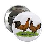 Gold Brabanter Chickens Button