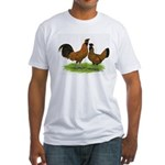 Gold Brabanter Chickens Fitted T-Shirt