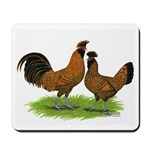 Gold Brabanter Chickens Mousepad