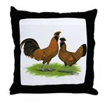 Gold Brabanter Chickens Throw Pillow