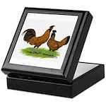 Gold Brabanter Chickens Keepsake Box